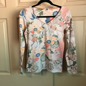 One World long sleeve with Asian flair